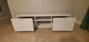 Full White TV stand for Sale in Las Vegas, NV