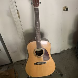 Acoustic Fender Guitar + Stand for Sale in Mountain View, CA