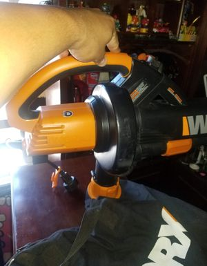 WORX WG509 Electric TriVac Blower/Mulcher/Vacuum & Metal Impellar Bag and Strap for Sale in Los Angeles, CA