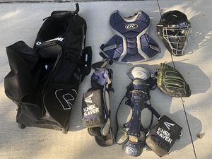 Intermediate sized catcher's gear for Sale in Etna, OH