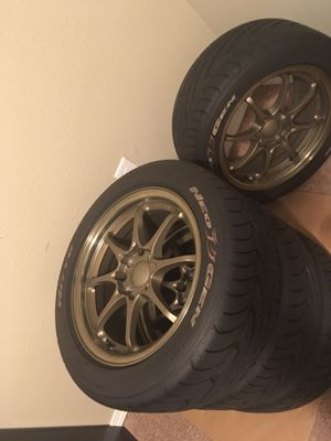 "Volks rims 15"" with tires for Sale in Tacoma, WA"