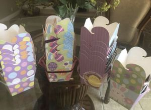 17 Easter Take-Out Large Containers w/Satin Ribbon —4 Different Designs for Sale in Los Angeles, CA
