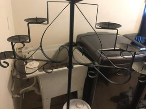 Black tall candle holder for Sale in Gary, IN
