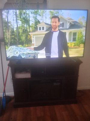 Sharp Tv 55 inch with fireplace for Sale in Phoenix, AZ