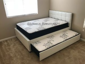 Full/twin size trundle bed with mattress included for Sale in Winchester, CA