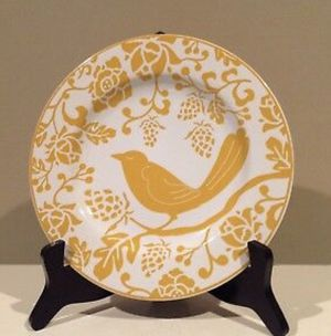 """Pier 1 Imports 8"""" Bird on a Branch Salad Dessert Plates SET OF 4 Yellow Farmhouse Rustic Kitchen for Sale in Boca Raton, FL"""