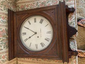 "Antique ""lobby"" wall clock Seth Thomas has pendulum and original key for Sale in Longwood, FL"