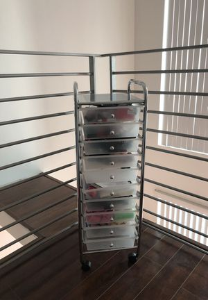 10 drawer organizer/storage cart for Sale in Miami, FL