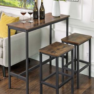 ALINERU Bar Table, Narrow Rectangular Bar Table, Kitchen Table, Pub Dining High Table, Sturdy Metal Frame, 39.4 x 15.7 x 35.4 Inches, Easy Assembly, I for Sale in Norco, CA