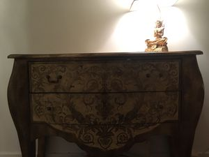 Gold Two Drawer Dresser for Sale in St. Louis, MO