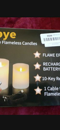 Autbye Rechargeable Flameless Candles, LED Flickering Candles Tealights Pillar Candles for Sale in Palmdale,  CA