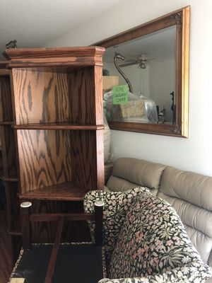 Two corner wooden bookshelves. Excellent condition. $1000, or offer? Thank you for Sale in San Jose, CA