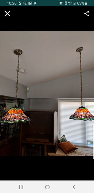 Tiffany stain glass light fixtures for Sale in Pompano Beach, FL