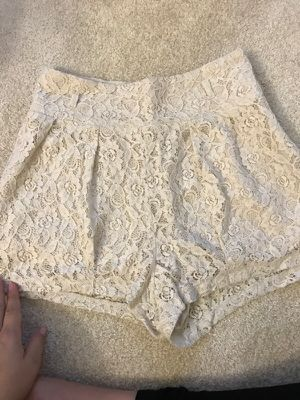 fa46f623b Beige lace flowers shorts size small forever 21 for Sale in Port St. Lucie