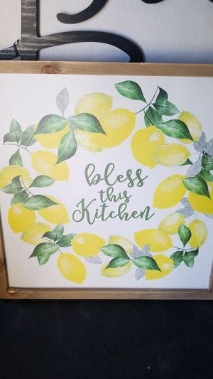 Lemon kitchen sign for Sale in Denver, CO