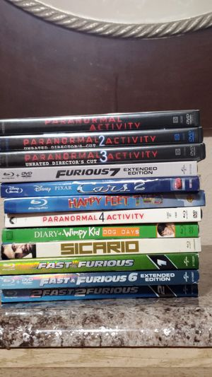 Good condition blu-Rays and dvds for cheap for Sale in Bloomington, CA