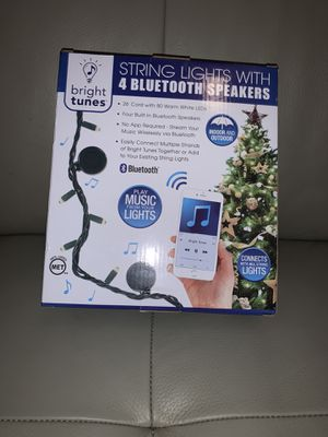 String lights with four Bluetooth speakers for Sale in San Antonio, TX