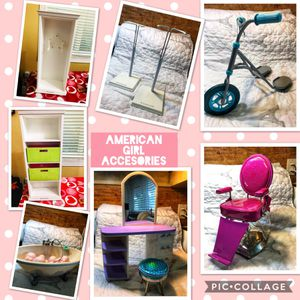 American Girl Chair, stands, vanity set for Sale in Miami, FL