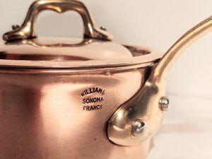 """William Sonoma/Mauviel Copper saucier 5"""" pot for Sale in Kirkland, WA"""