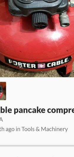Porter Cable Pancake Compressor for Sale in Paramount,  CA