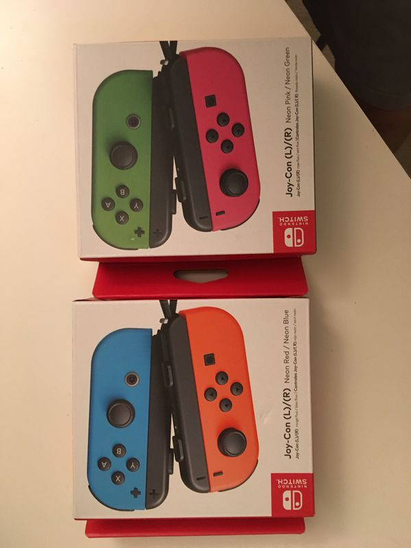 New nintendo switch joy-con red and blue or green and pink