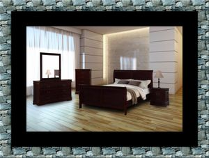 Louis Phillipe 11pc bedroom set with mattress for Sale in Ashburn, VA