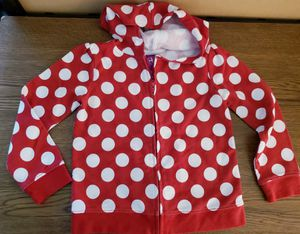Red and white polka dot hoodie girls 4 EUC for Sale in Newport News, VA