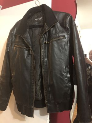 Leather Guess jacket for Sale in Newark, NJ