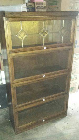 Antique book shelf glass doors for Sale in Fresno, CA