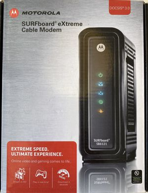 Motorola sb6121 Cable Modem - works with Comcast for Sale in Issaquah, WA
