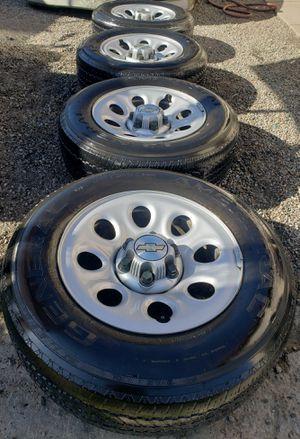 💸Chevy Silverado/Tahoe/Suburban/GMC rims and tires ...245/70/17 for Sale in San Bernardino, CA