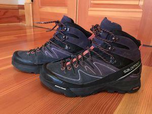 Salomon Sz 9 Waterproof X Alp Mid GTX Hiking Trail Mid Womens Shoes for Sale in Marysville, WA