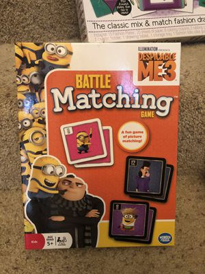 NIB Minions/Despicable Me matching game for Sale in Flower Mound, TX