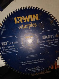 10-in 80-Tooth Carbide Miter/Table Saw Blade for Sale in Ladera Ranch,  CA