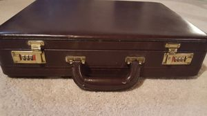 Hard-sided Leather Locking Briefcase for Sale in Brunswick, OH