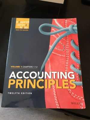 Accounting principles Volume 1 chapters 1-12 for Sale in Hercules, CA