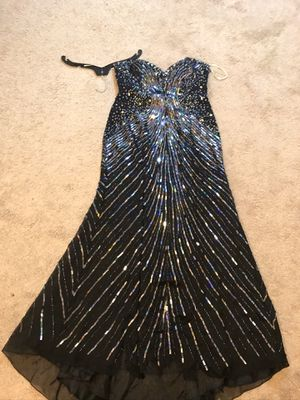 Sz18 black rhinestone evening gown prom dress for Sale in OH, US