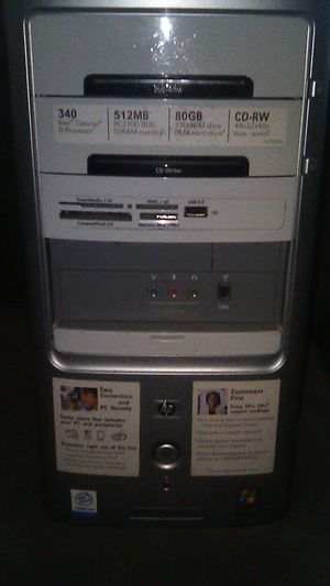 HP computer tower for Sale in Dallas, TX