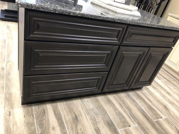 "New 60"" kitchen island with granite top"