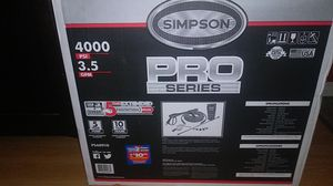 Simpson pro series 4000 psi pressure washer for Sale in St. Louis, MO