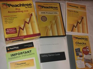 COMPLETE Peachtree by Sage Pro Accounting 2008 ~ installed & tested Windows 10 for Sale in Albany, OR