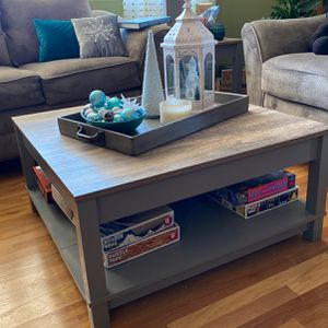 Grey Wood Coffee Table for Sale in Soquel, CA