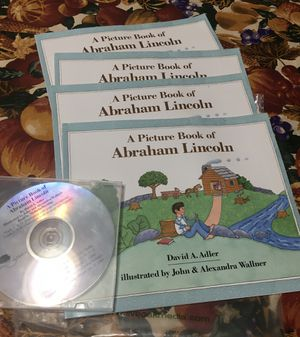 A Picture Book of Abraham Lincoln (4 books) & CD Narration for Sale in Downers Grove, IL