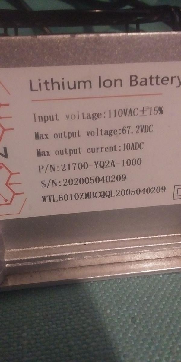 Segway GENUINE OEM Segway Dirt EBike X260 Charger Li-Ion Battery Charger