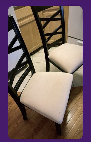 2 Wooden Chairs — Dark Brown — Good Condition for Sale in Brooklyn, NY