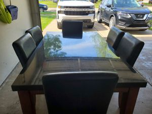 Granite dining table with 6 chairs for Sale in Troy, MI