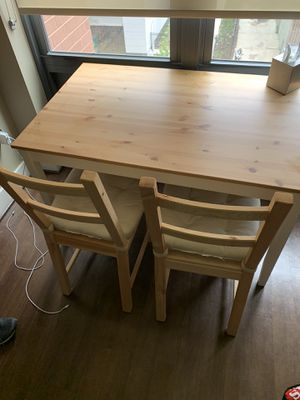 IKEA LERHAMN Table with 2 Chairs for Sale in Washington, DC
