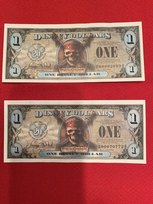"""2007 Disney Dollars Pirates of the Caribbean """"Black Pearl"""" Low E number-uncirculated. for Sale in Chandler, AZ"""