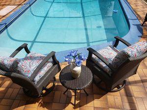 Patio furniture/outdoor furniture/patio set/outdoor set/patio rocking chairs set/outdoor rocking chairs/balcony set/muebles de patio balcon o terraza. for Sale in Miramar, FL