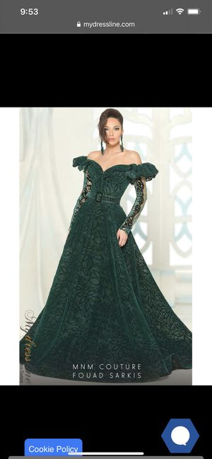 Green couture prom/gown dress for Sale in Pleasanton, CA